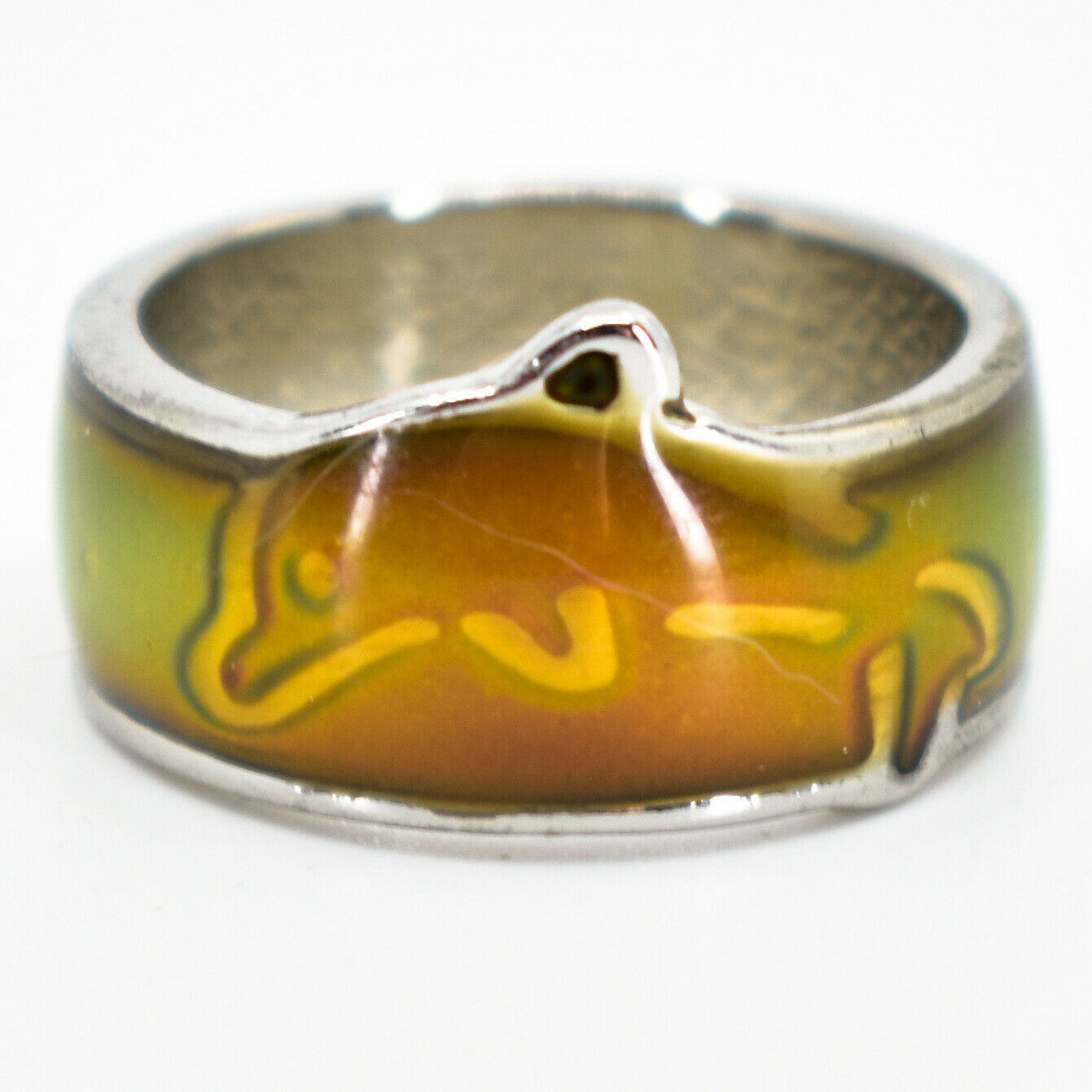 Cute Jumping Dolphin Children's Color Changing Fashion Mood Ring
