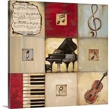 "Feel The Music II Canvas Wall Art Print, 10""x10""x1.25"" - $29.79"