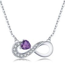 JO WISDOM Infinity Heart 925 Sterling Silver Cubic Zirconia Friendship P... - $28.61