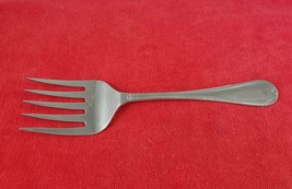 Fish Cold Meat Fork ~ French Leaf by Sheffield England Stainless Flatwar... - $11.87