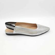 Naturalizer Womens Rory 2 Slingback Shoes Metallic Pointy Toe 8.5 W EU 40.5 New - $41.55