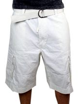 Levi's Men's Premium Cotton Cargo Shorts With Belt Relaxed Fit White 13581-0009 image 5
