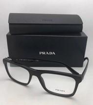 New PRADA Rx-able Eyeglasses VPR 06R 1AB-1O1 55-18 145 Black Rectangular Frame