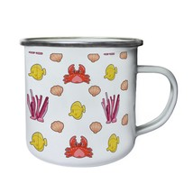 New Sea Elements Pattern Retro,Tin, Enamel 10oz Mug l379e - $13.13