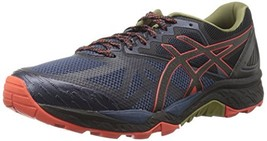 ASICS Mens Gel-Fujitrabuco 6 Running Shoe New, Insignia Blue/Black/Red C... - $126.13