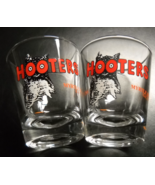 Hooters Shot Glass Myrtle Beach South Carolina Lot or Two Clear Orange a... - $12.99