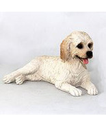 LABRADOODLE CREAM DOG Figurine Statue Hand Painted Resin Gift Pet Lovers - $16.74