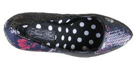 Iron Fist Parting Kiss Pointed Toe Black Sequin Platform Heel Pump Shoes NIB image 6