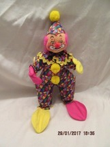 "Annalee Dolls 1999 12"" MULTI-COLORED Clown Mint With Original Tags - $30.00"