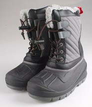Cat & Jack Kids Grey Emory Boys Winter Boots with Thermolite Insulation NEW