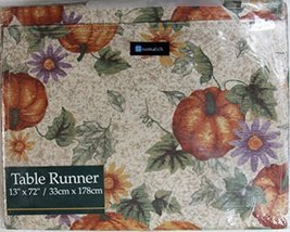 Unomatch Fruity Table Runner Printed Pumpkins Table Runner Cloth Dining Decor (M - $78.39