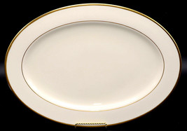 "Lenox Mansfield 16"" OVAL SERVING PLATTER Presidential, Gold Ivory, EXC 2... - $34.99"