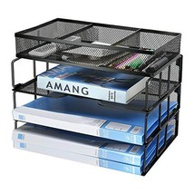 Besource Mesh 3-Tier Office Desktop File Organizer Stackable Desk Organi... - $27.25