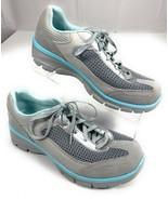 Skechers Relaxed Fit Memory Foam Gray Blue Sneakers Shoes Women's 9 - $26.92