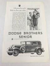 Dodge Bros Senior The Landau Sedan Vtg 1929 Print Ad Lady With Bellhop - $9.89