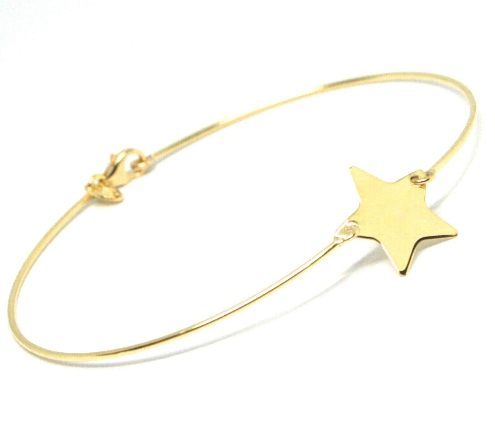 Mini Armband Gelbgold oder Weiß 750 18K, Samen Starr, Stern Wohnung Zentrale