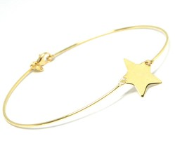 Mini Armband Gelbgold oder Weiß 750 18K, Samen Starr, Stern Wohnung Zent... - $220.51