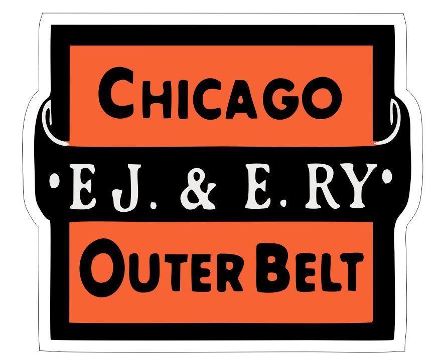 Elgin Joliet & Eastern Railway Sticker R6972 Railroad Train Chicago PICK SIZE - $1.45 - $12.95
