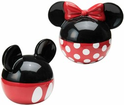 Salt & Pepper Shakers Set Ceramic Minnie and Mickey Mouse Disney Gift Ship Fast  - $19.95