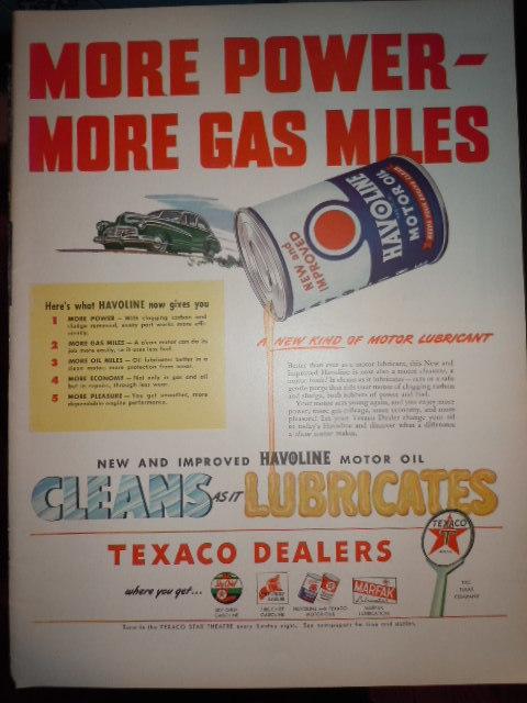 Vintage Havoline Motor Oil Texaco Dealers and 50 similar items