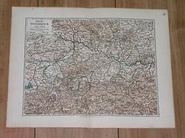 1892 ORIGINAL ANTIQUE MAP OF UPPER AUSTRIA OB DER ENNS / SALZBURG LINZ - $7.92