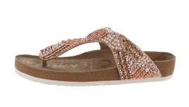 Sam Edelman Olivie 4 Footbed Thong Sandal Gold Satin 6 NEW 598-739 - $46.51