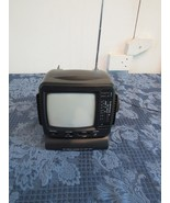 Mini Personal Television Black and White With AM/FM Radio Prop Set Piece - $19.86