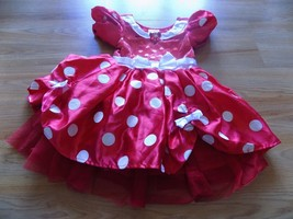 Toddler Size 3 Disney Store Classic Minnie Mouse Costume Dress Red White Dots - $44.00
