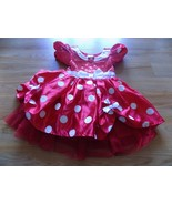 Toddler Size 3 Disney Store Classic Minnie Mouse Costume Dress Red White... - $44.00