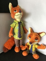 "Disney Store Zootopia NICK WILDE Sly Fox 13"" 8"" Plush Stuffed Toy Animal... - $14.84"