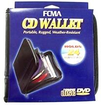 FCMA CD-DVD Portable Black Vinyl Wallet (24 Disc Capacity) by Case Logic  - $4.99