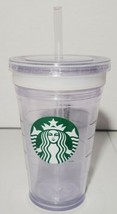 Starbucks Grande Mark It Clear Acrylic Cold Cup Double Walled Tumbler 16... - $5.84