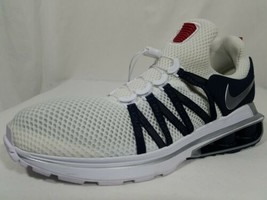 Nike Shox Gravity Running Shoes Size 9.5 Men's 2018 White Blue Silver AR... - $64.34