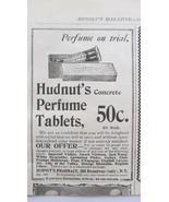 Antique advertising Hudnut's perfume tablets 1899  - $14.00