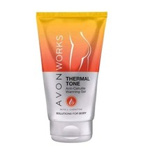 Avon Works Thermal Tone Anti Cellulite Treatment Warming Gel with L'Carn... - $8.37