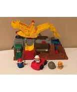 Fisher Price Little People Rock Quarry Construction Play Set Boulder Fig... - $19.99