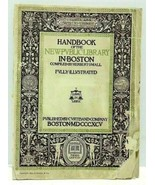 1895 Handbook Of The New Public Library In Boston Compiled By Herbert Small - $29.99