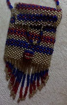 Native American Regalia Glass Beaded Medicine Bag Coin Purse Side Bag Ne... - $49.99