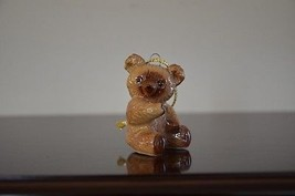 Porcelin Brown Bear Chirtmas Trees Decoration Ornament Holiday Season Xmas - $0.99