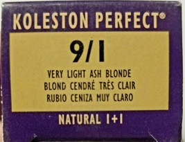 Wella Koleston Perfect Permanent Creme Haircolor 1+1 9/1 Very Light Ash ... - $6.79