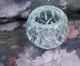 HOMCO Lead Crystal Tea Lite Candleholder Made in the USA  - $18.69