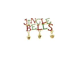 Jingle Bells Christmas Bells Pin and Brooch - $12.95