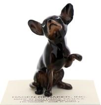 Hagen-Renaker Miniature Ceramic Dog Figurine Chihuahua Hand Shake Black image 2