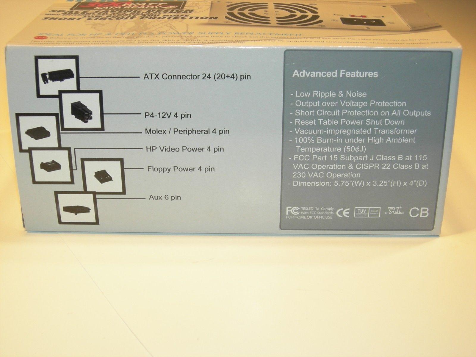 New PC Power Supply Upgrade for PowerMan FSP300-60BT Desktop Computer