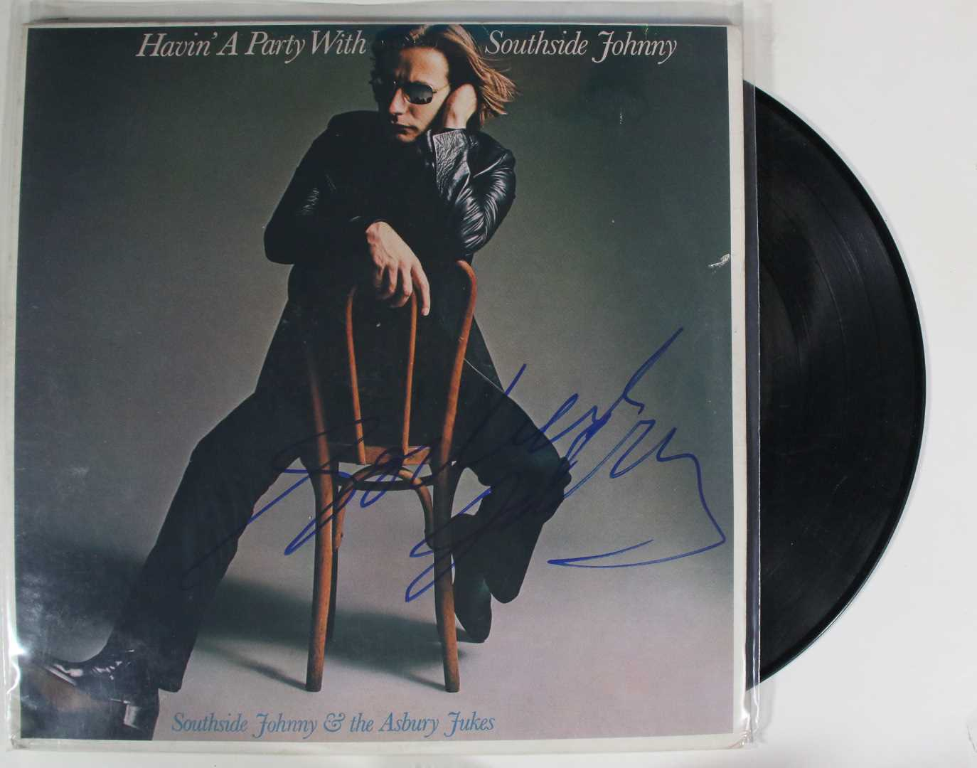 "Primary image for Southside Johnny Signed Autographed ""Havin a Party With"" Record Album"