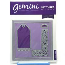 Crafter's Companion Gemini Set 3 Metal Die Pack 5 Designs Crafts Scrapbo... - $13.95