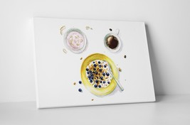 """Breakfast Dishes Kitchen Wall Art Gallery Wrapped Canvas. 30""""x20 or 20""""x16"""" - $44.50+"""