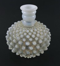Vintage White Clear Milk Glass Hobnail Opalescent FENTON Ribbed Perfume ... - $13.49