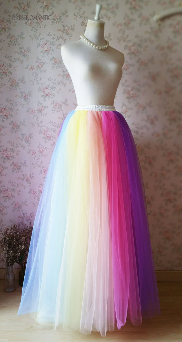 Adult RAINBOW TUTU Skirt Rainbow Party Costume Fancy Tutu Petticoat Any SIZE NWT