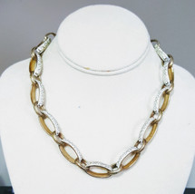 Liz Claiborne Chunky Textured Large Oval Linked Necklace - $14.99